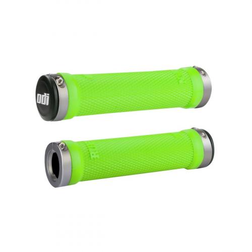 Gripy ODI Ruffian Lock-On Lime Green / Grey