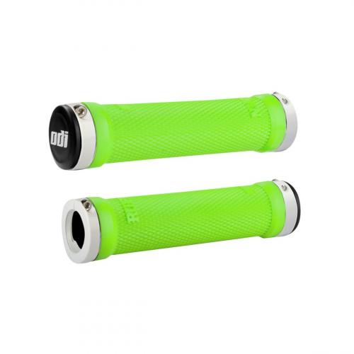 Gripy ODI Ruffian Lock-On Lime Green / White
