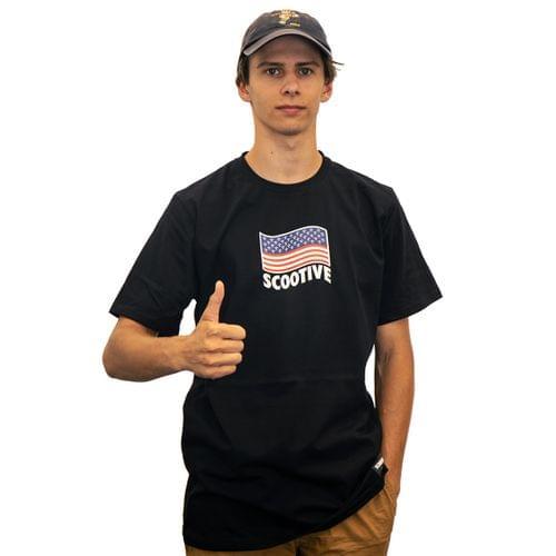 Koszulka Scootive Flag Black