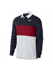 Longsleeve Nike SB Dry Top Polo Obsidian / Team Crimson / White / White