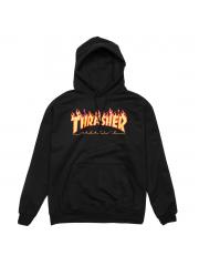 Bluza Thrasher Flame Logo Black Hood