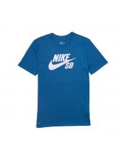 Koszulka Nike SB Logo Industrial Blue / White