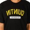 Koszulka Quintin NITNIUQ Black / Yellow