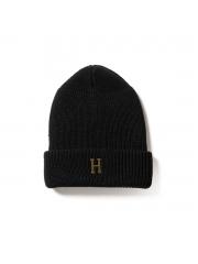 """Czapka zimowa HUF Brass """"H"""" Black"""