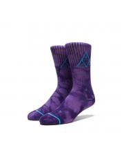 Skarpetki HUF Triple Tie Dye Crew Purple