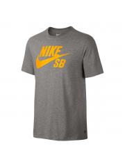 Koszulka Nike SB Logo Dark Grey Heather / Laser Orange