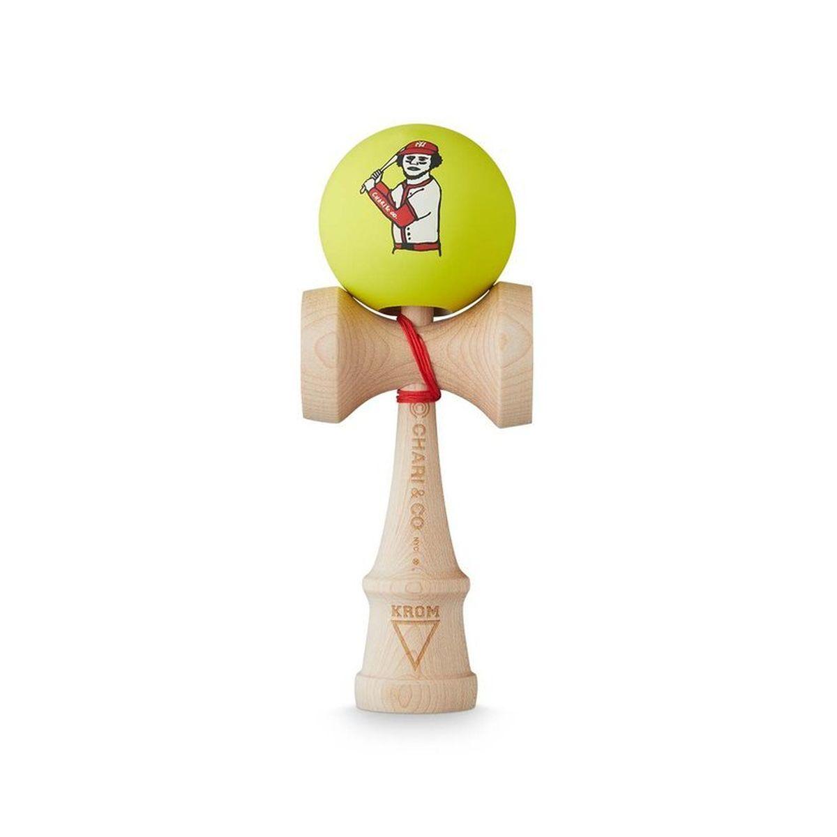 Kendama KROM x Chari & Co Baseball Neon Full Maple
