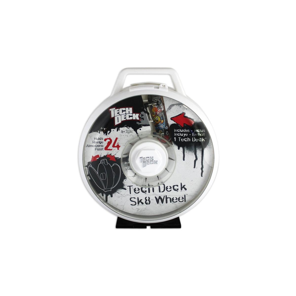 Walizka na fingerboardy Tech Deck Sk8 Wheel White