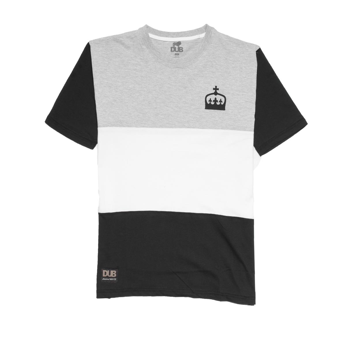 Koszulka DUB Mono Black / Grey / White
