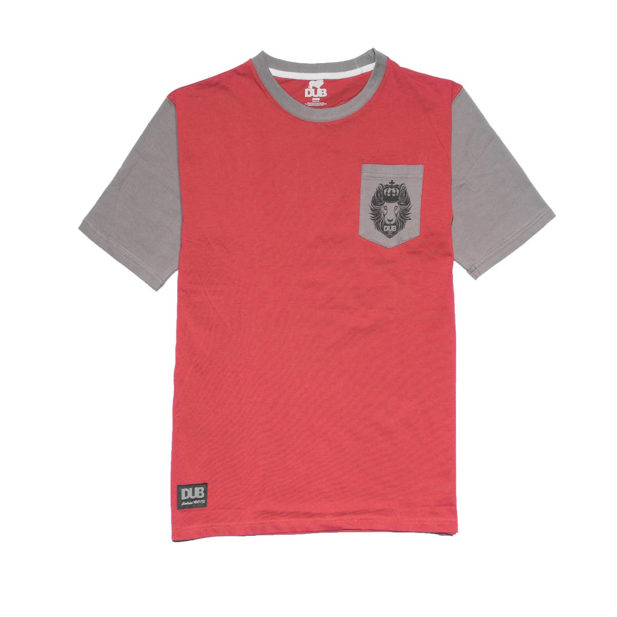 Koszulka DUB Judah Burgundy / Grey