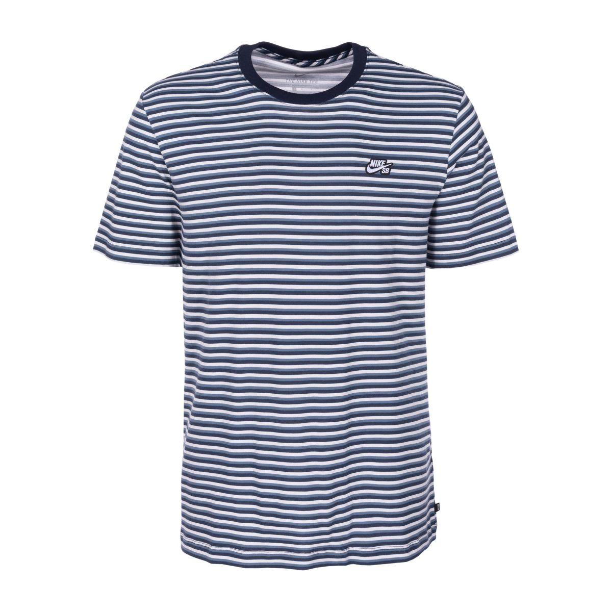 za pół moda designerska sklep z wyprzedażami Koszulka Nike SB Stripe White / Obsidian / White
