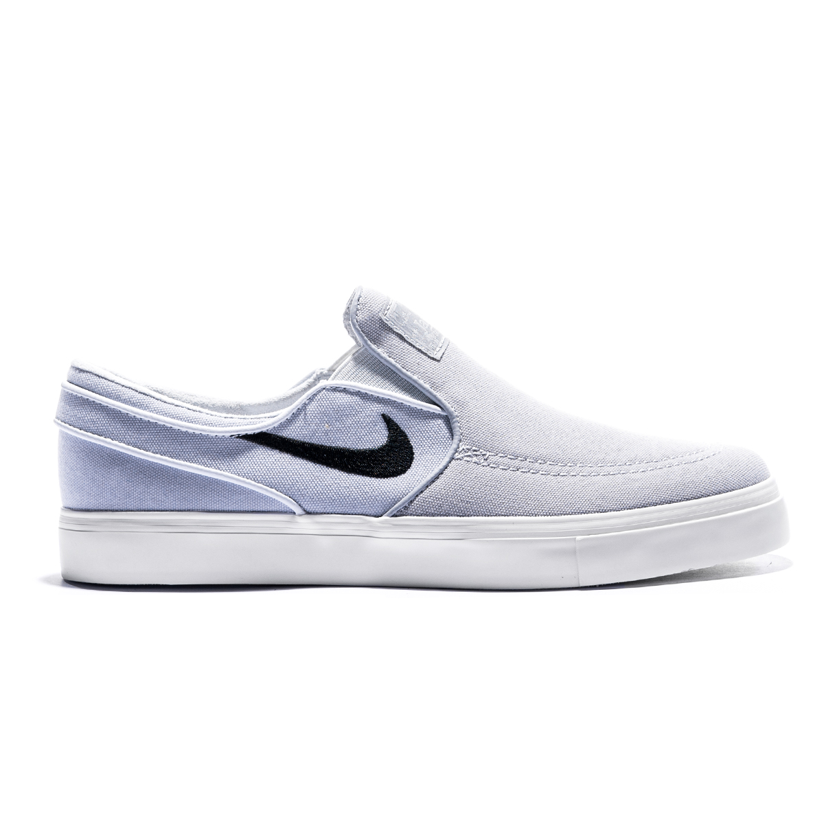 Buty Nike SB Zoom Stefan Janoski Slip Canvas Wofl Grey / Black-Pure Platinum