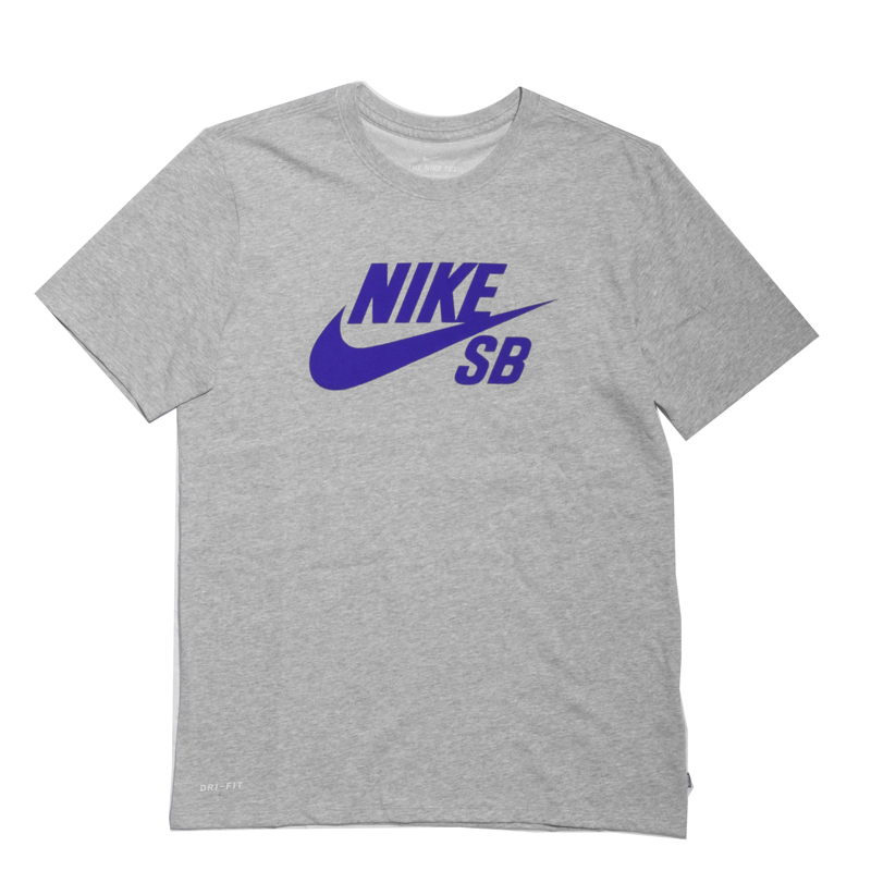Koszulka Nike SB Logo Grey Heather / Deep Night