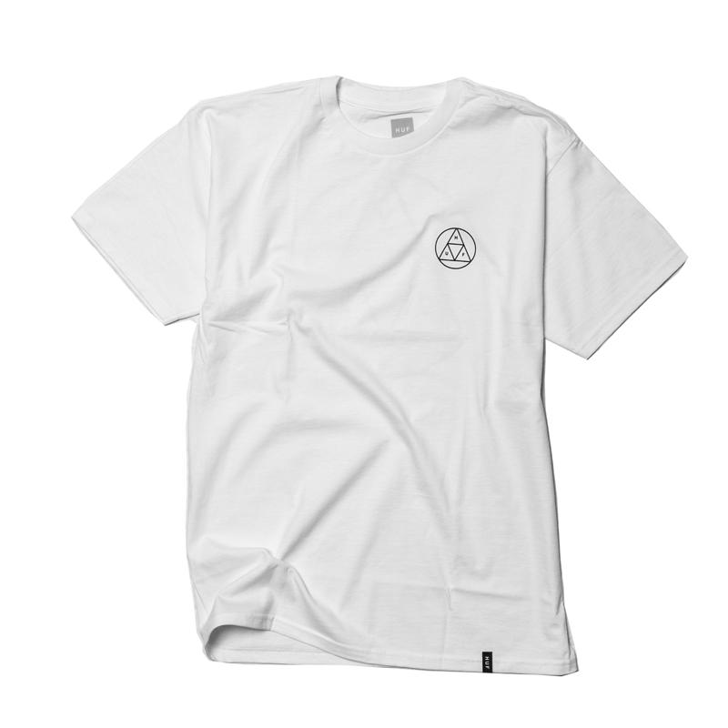 Koszulka HUF Circle Triple Triangle White