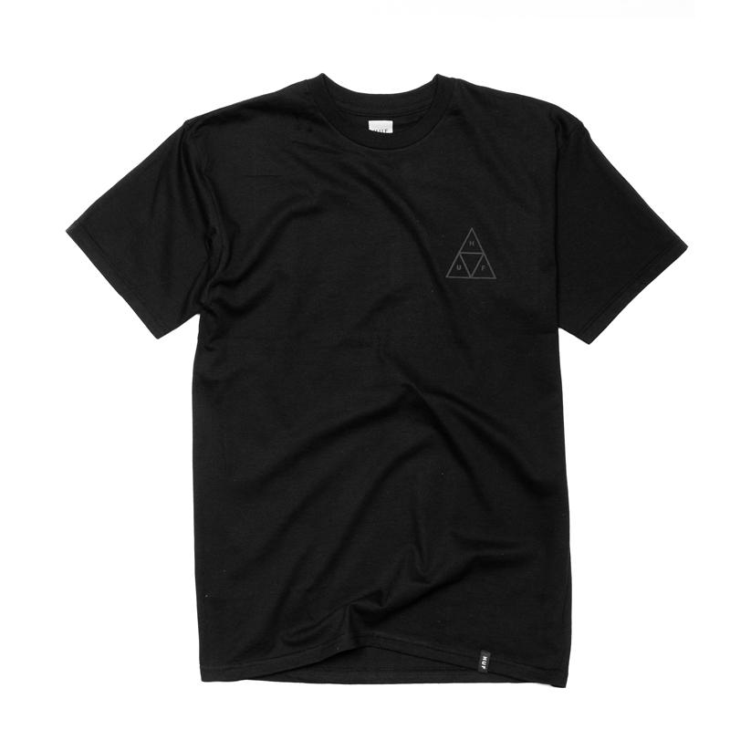 Koszulka HUF Triple Triangle Puff Black