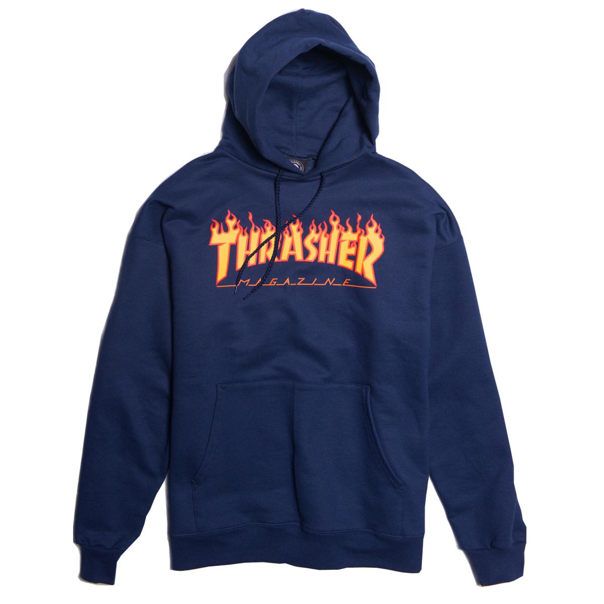 Bluza Thrasher Flame Logo Navy Hood
