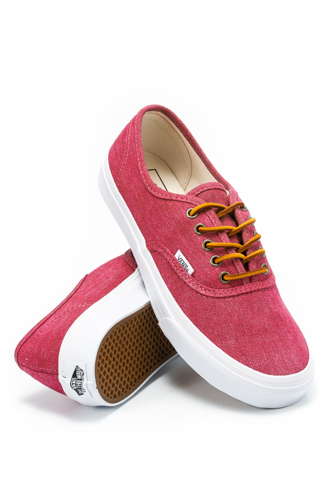 012f3c9965a5fb Buty Vans Authentic Slim (Washed Canvas) Persian Red   True White ...