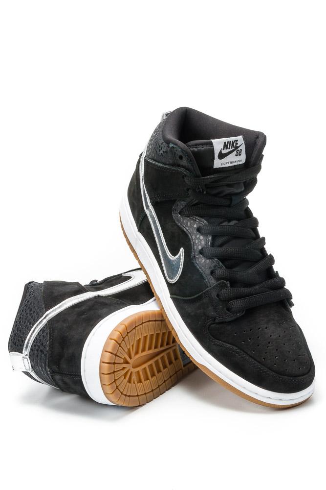 finest selection 25031 dd1fb Buty Nike Dunk High Premium SB Black / Metallic Silver (Nigel Sylvester)