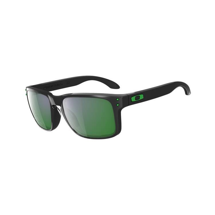 Okulary Oakley Holbrook Polished Black / Emerald Iridium
