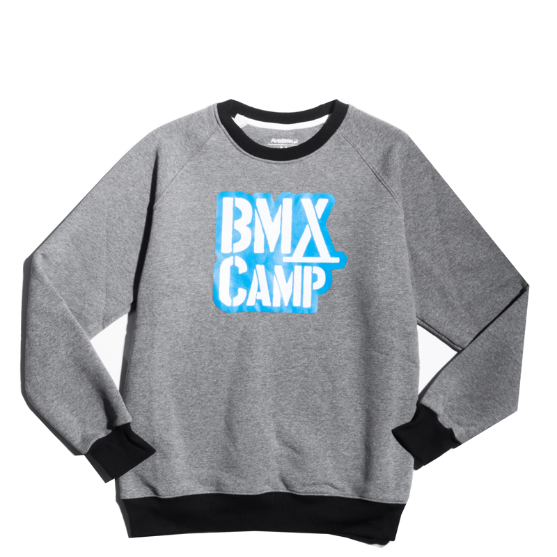 Bluza Bmx Camp Crewneck Grey / Black