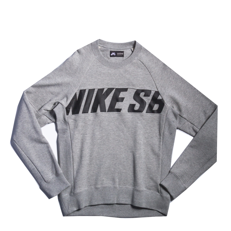 Bluza Nike SB Everett Motion Crew Heather Grey / Black