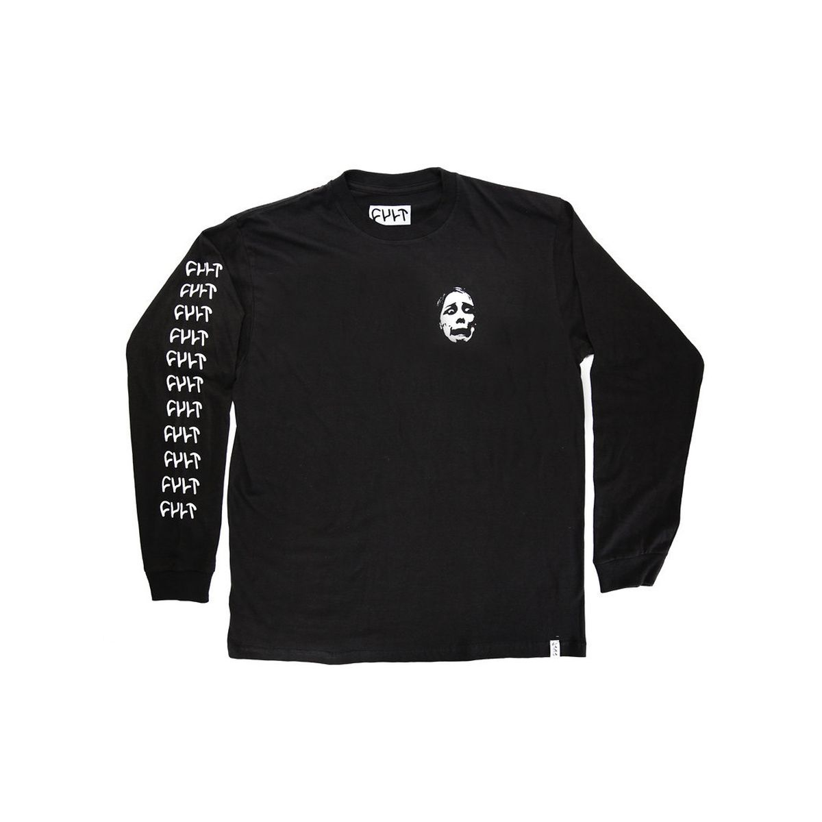 Longsleeve Cult Face Logo Black