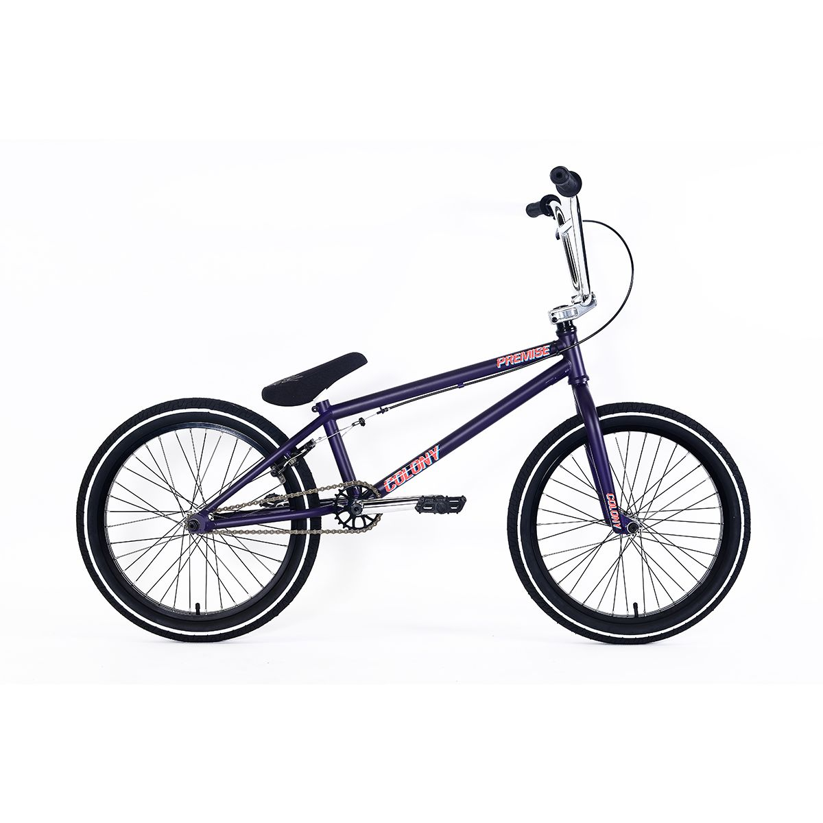 Rower BMX Colony Premise 8 Matte Dark Purple / Chrome