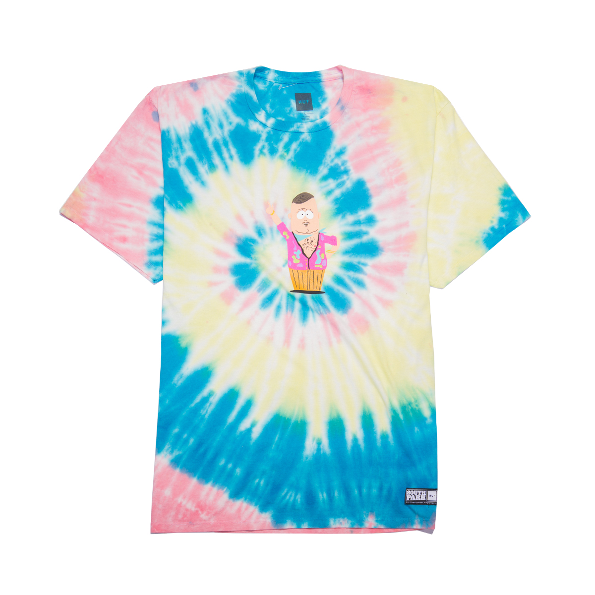 Koszulka HUF x South Park Big Gay Al Tie Dye Multicolor