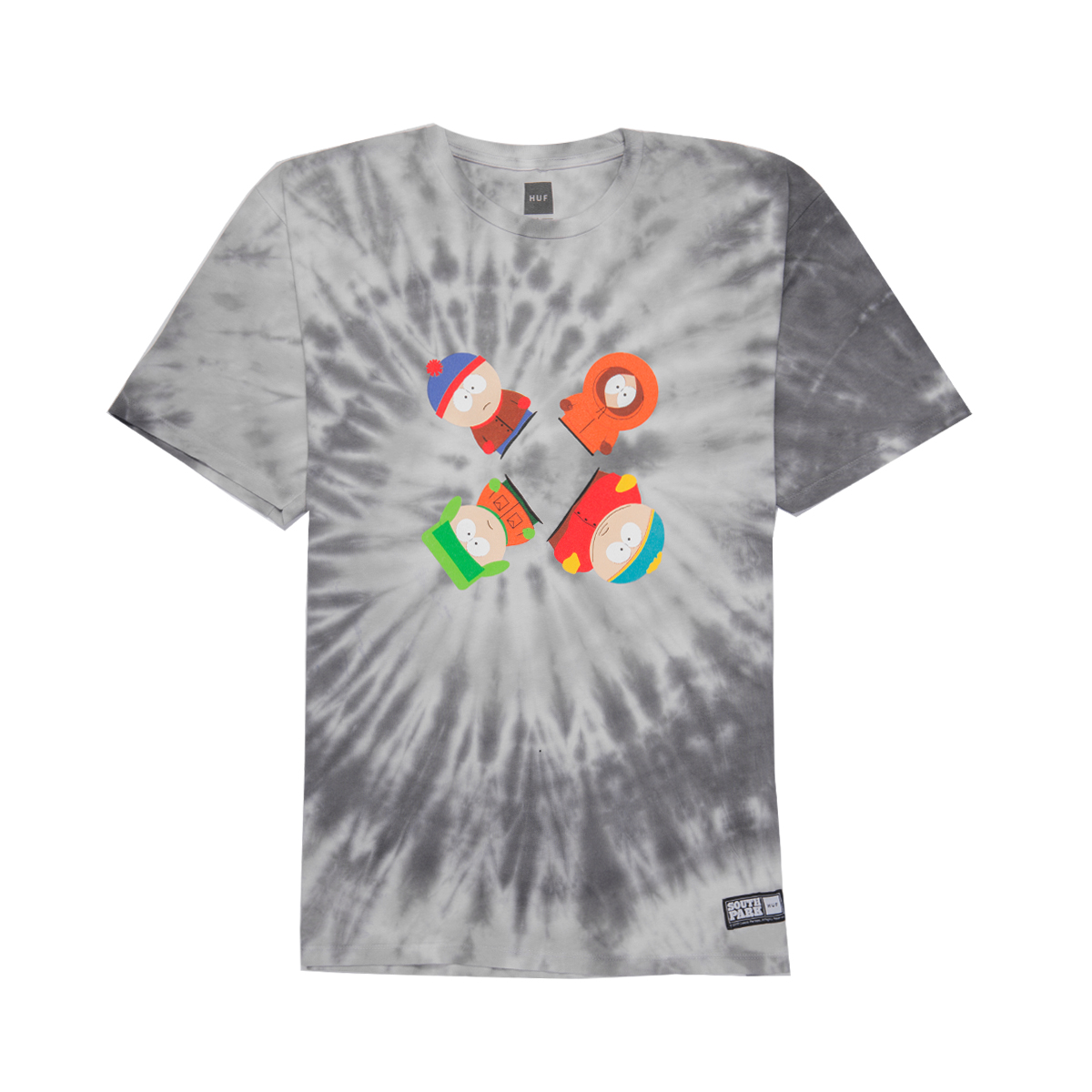 Koszulka HUF x South Park Trippy Tie Dye Black