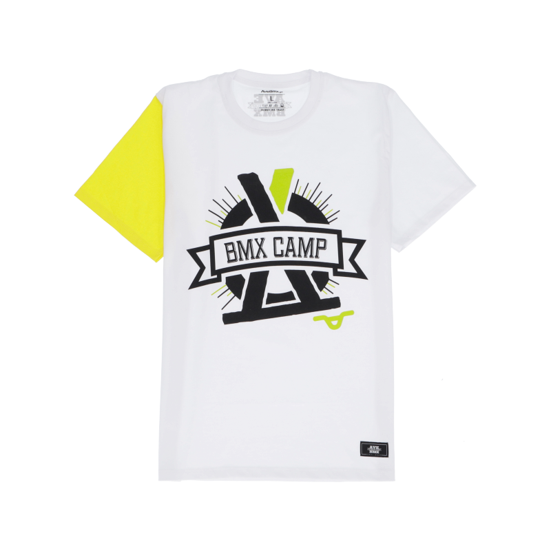 Koszulka Bmx Camp Portal White / Yellow