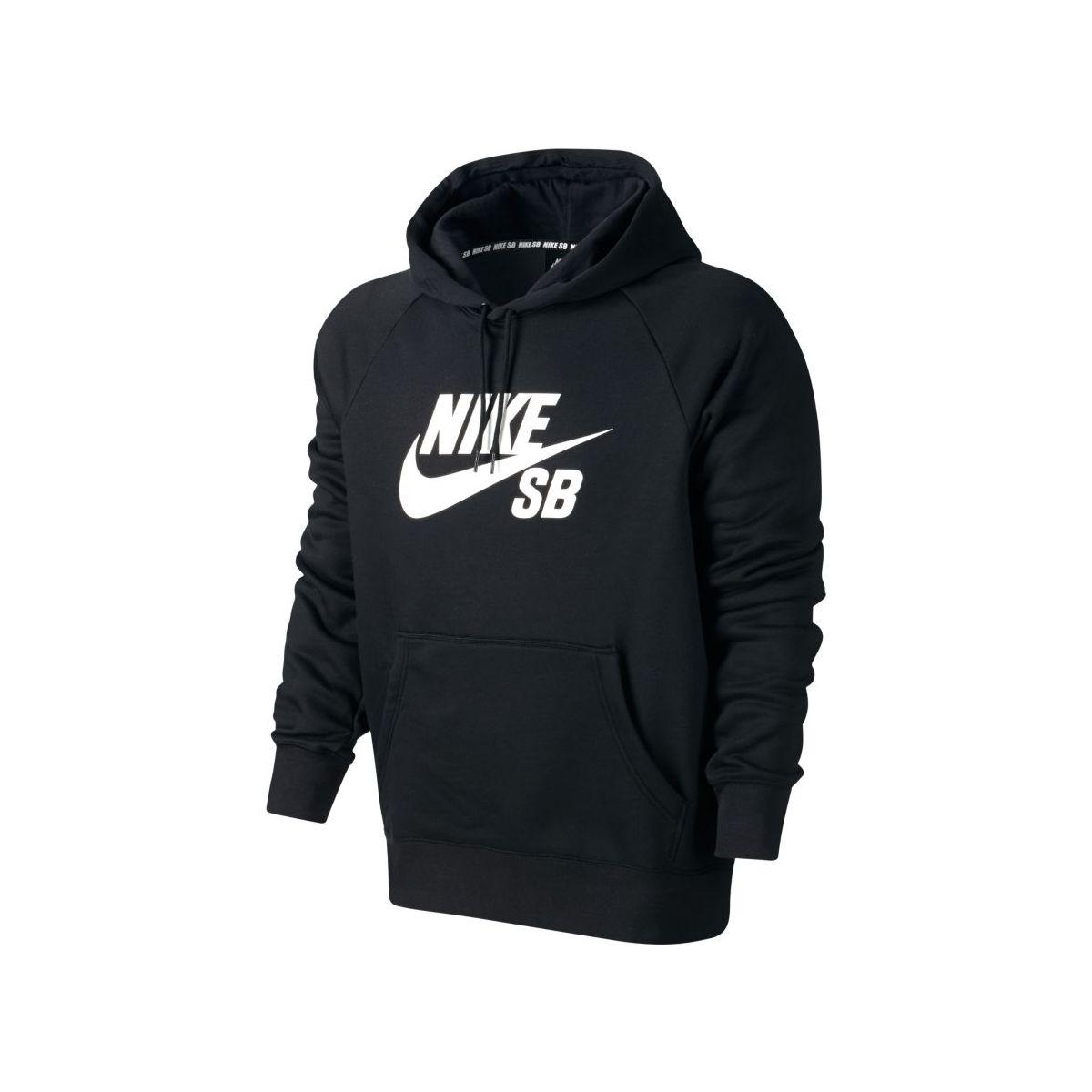 Bluza Nike SB Icon Black / White Hoodie
