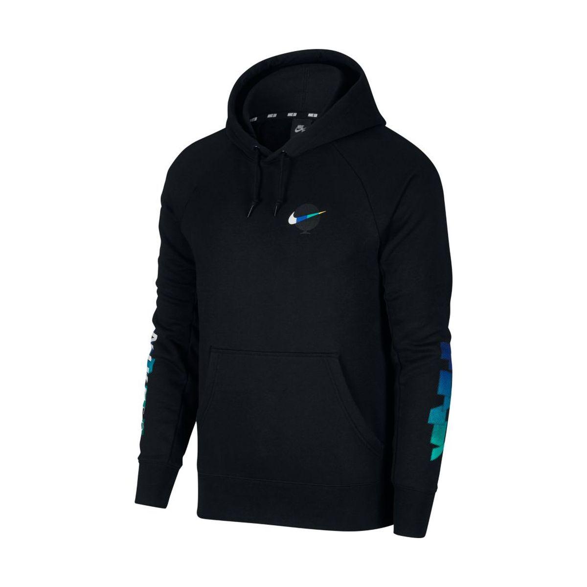 Bluza Nike SB Icon GFX Dark Black / White Hoodie